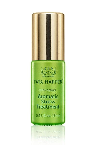 Anxiety: Having a full-on panic attack.  Solution: A quick sniff of Tata Harper's Aromatic Stress Treatment calms in seconds. Plus, it fills your nose with something other than Eau de Aircraft. Win-win! Tata Harper Aromatic Stress Treatment, $80; tataharperskincare.com   - ELLE.com