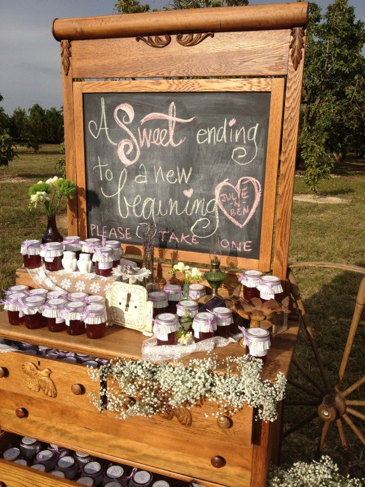 Southern Vintage rentals - jam favors on oak dresser