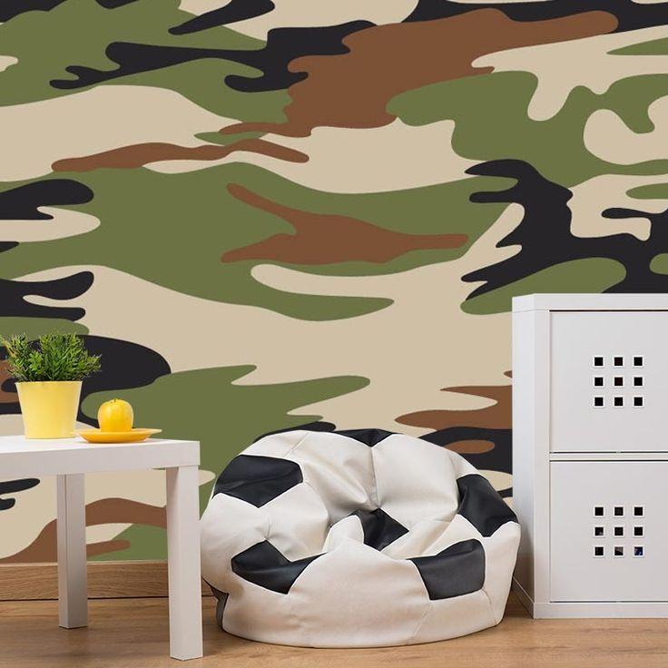 Fotobehang groene legerprint 1 | Jouw kamer een make over geven? Het fotobehang maakt jouw kamer tot een vet coole ruimte waar je heerlijk in kunt chillen. Het fotobehang is op maat en in verschillende typen behang verkrijgbaar. Gratis digitale drukproef. #vliesbehang #fotobehang #zelfklevend #behangen #behang #muurdecoratie #fotomuur #fotowand #diy #vlies #print #foto #muur #interieur #opmaat #maatwerk #trend #trendy #jongens #jongenskamer #tienerkamer #leger #legerprint #printje #groen…
