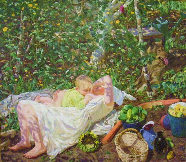 Аркадий Пластов. Солнышко.  Arkadiy Plastov. Sunshine. Tretiakov State Gallery, Moscow, Russia