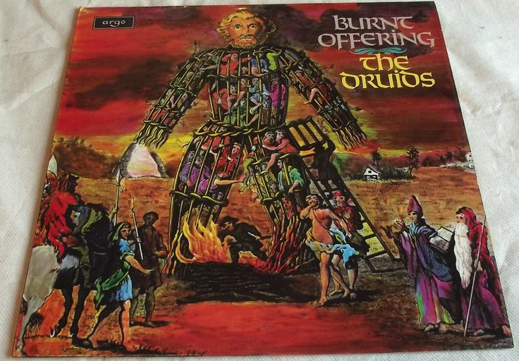 THE DRUIDS ~ BURNT OFFERING ** 1970 UK 1st ARGO LP    ACID FOLK WICKER MAN PAGAN