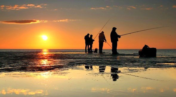 Sunset fishing at mexico beach florida 39 s forgotten coast for Fishing mexico beach fl