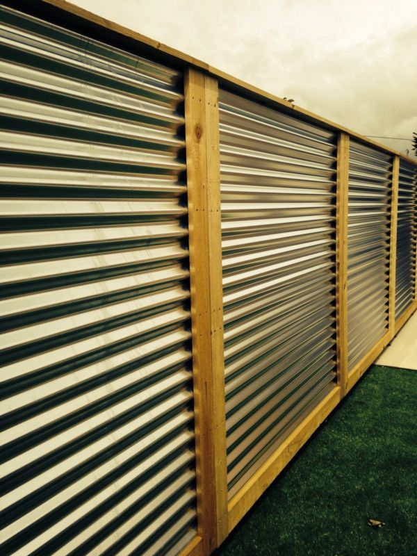 Sheet Metal Fence Corrugated Panels Throughout Inspiration Decorating