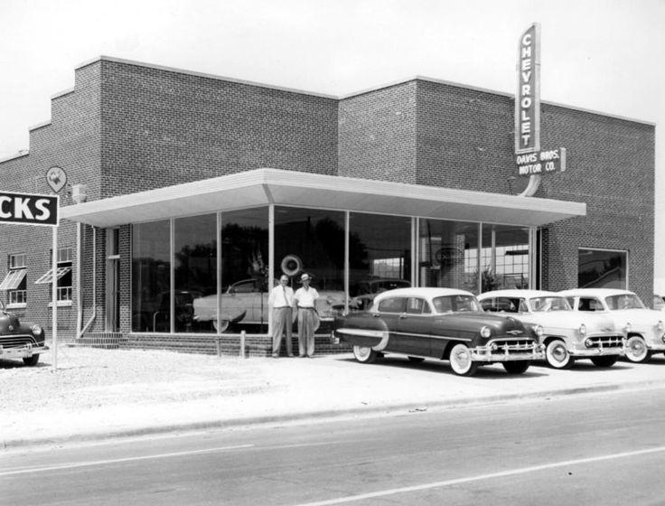 1953 Chevy Dealership Buildings.... | Vintage car lots ...