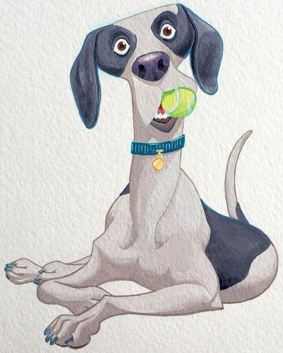 Открытки люблю, прикольные картинки мультяшных собак