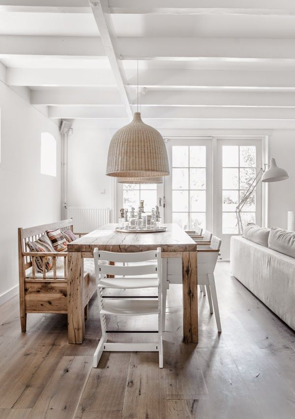 A serene Dutch home in whites and browns. Styled by Danielle De Lange. Photographs by Paulina Arcklin.