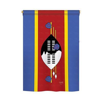 TwoGroupFlagCo Swaziland 2-Sided Vertical Flag Size: