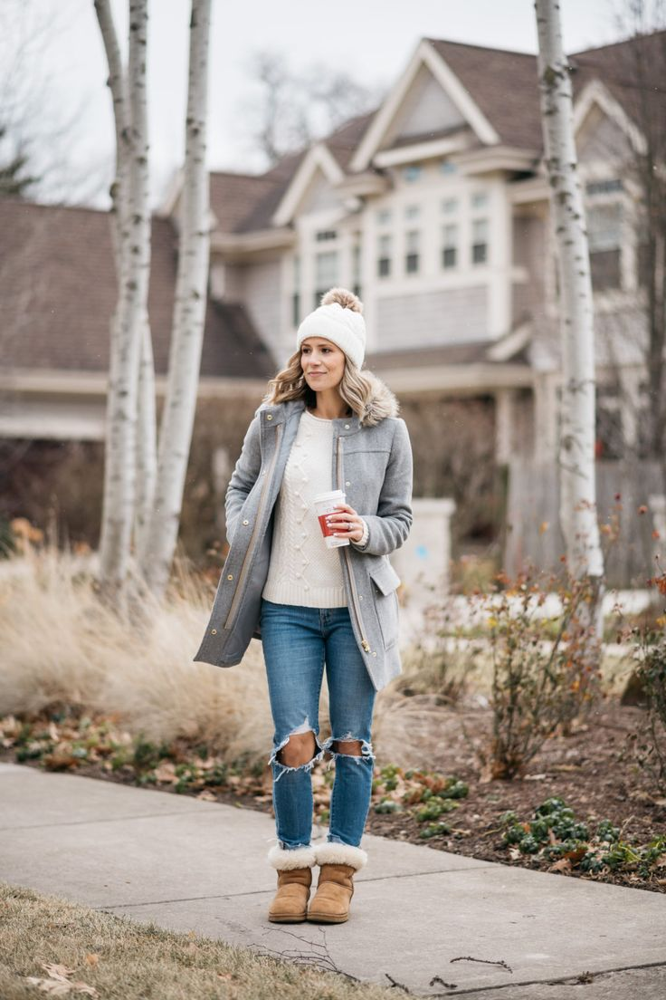 Parkas, Poms + Parenting Fails | winter style | winter fashion | winter outfit idea | mom jeans | mom life | motherhood tips | three year old | threenager | how to deal with a strong willed child | cozy winter #style #fashion #winter #motherhood #momlife