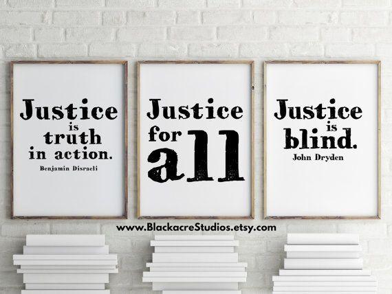Justice Print Set Gift Pack Law School by BlackacreStudios