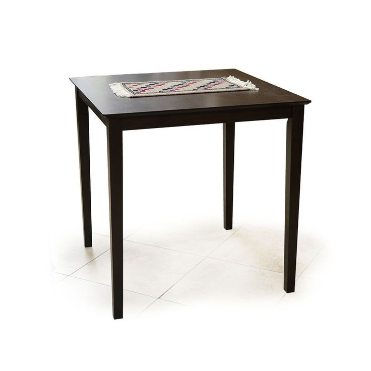 table 36 inches high. warehouse of tiffany interlocking square espresso (brown) wood 36-inch high bar table 36 inches