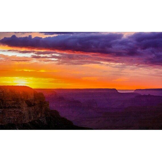 Sunset over Grand Canyon, Arizona