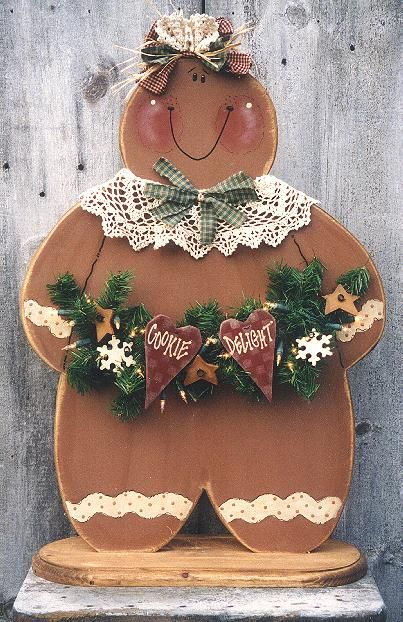 Gingerbread Painting Patterns | ... Woodcraft & Tole Painting Pattern Packets by Heidi Markish Designs