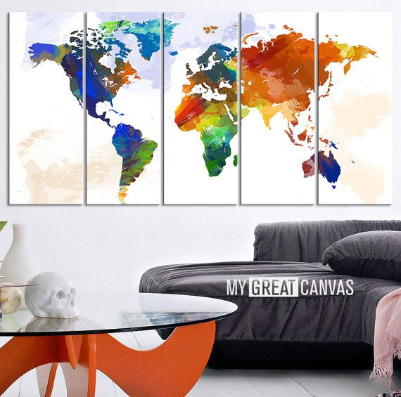17 best large wall art world map canvas print images on pinterest world map canvas prints are the perfect treat for any travel enthusiast or a wonderful gift gumiabroncs Choice Image