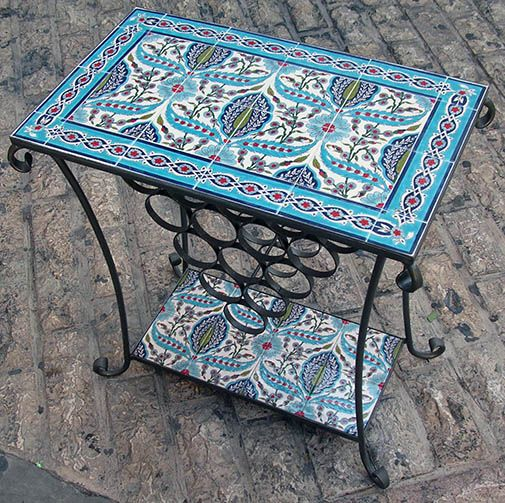 Tiled table by Sandrouni Armenian Ceramics in Jerusalem