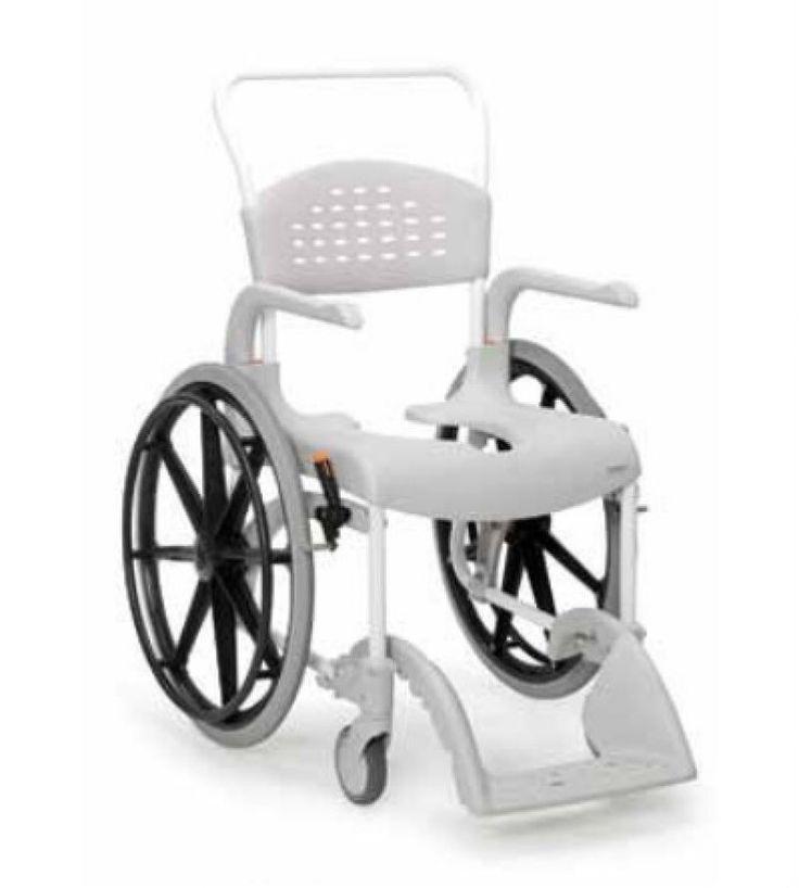 Silla para ducha CLEAN con ruedas autopropulsables