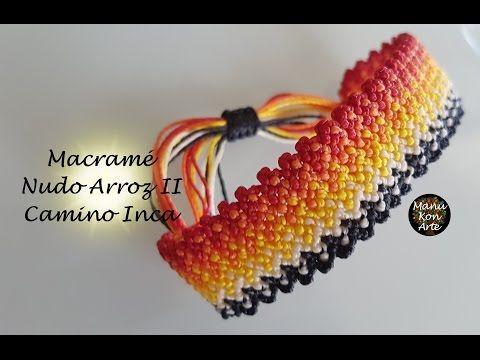 DIY Tutorial Macramé Nudo Arroz II/ Camino Inca - YouTube