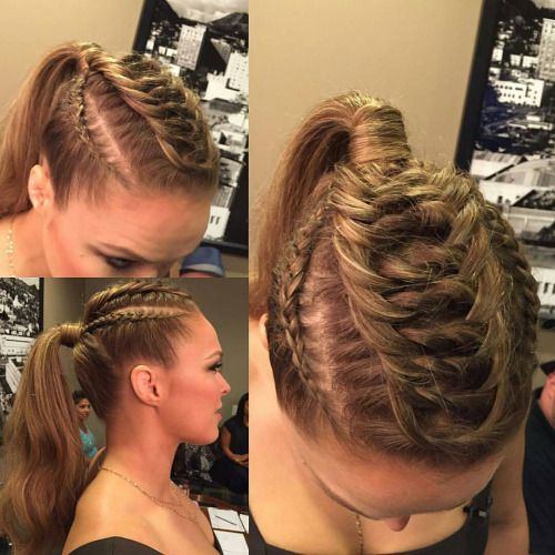 24 Best Images About Gym Hairstyles On Pinterest Ronda