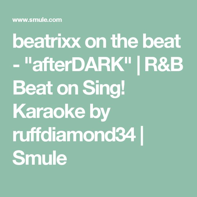 "beatrixx on the beat - ""afterDARK"" 
