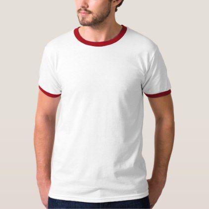 Men's Basic Ringer T-Shirt - anniversary cyo diy gift idea presents party celebration