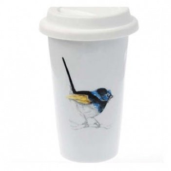 Prettiest reusable coffee cup ever! Designed in Melbourne by Penny Smith. Made from porcelain and has a silicon lid. $29.95
