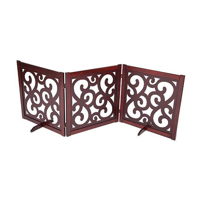 """CLASSIC DESIGNER DOG GATE 27"""" – Free shipping and tax included on all designer dog gates. Add style to your home with our luxury pet gates.  Perfect for puppies too! Our indoor and outdoor dog gates will be a great addition to your home.  #dog #doggate #talldoggate #petgate #puppygate #designerpetfurniture"""