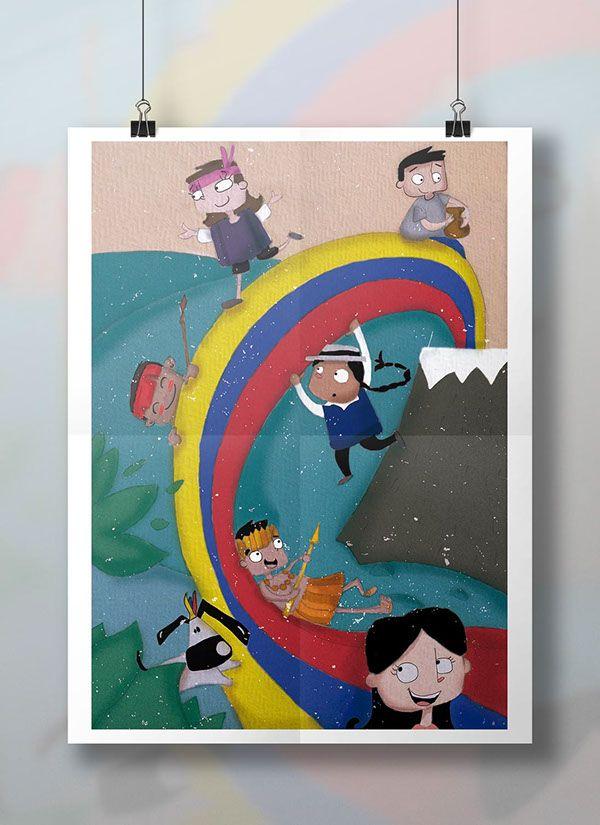 Ilustración Realizada para la revista infantil Chispiola :D! #infantil #ilustración #cover #revista