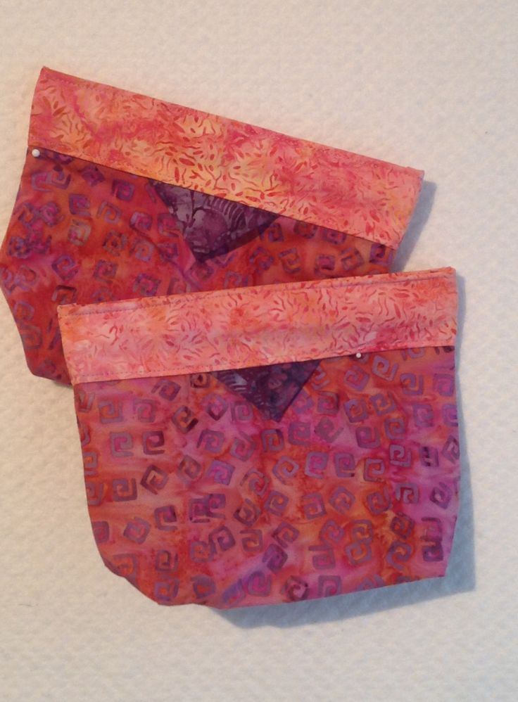 Bag, Clutch, Purse, Click -it Bag, Tote Bag, Cosmetic Bag, Gift, Batik Pink, Lavender and Orange by AlidanCreations on Etsy