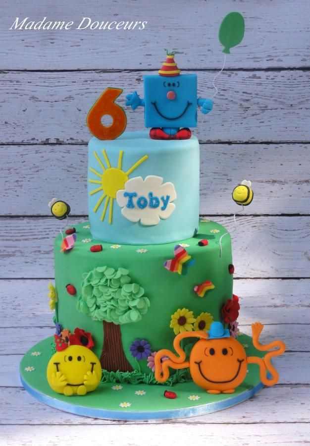 Mr Men cake by Madame Douceurs - For all your cake decorating supplies, please visit http://www.craftcompany.co.uk/