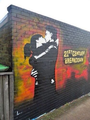 I love this! Definitely no graffiti like this near me. Green Day. 21st Century Breakdown.