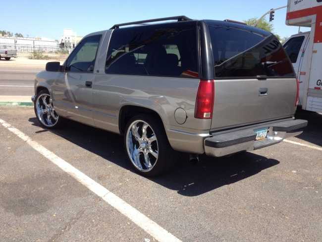 "2004 Chevy Silverado For Sale >> 99 Chevy Tahoe 2 Door Wheel Drive on 22"" Joe Martin Wheels. Rare and collectible. | Trucks ..."