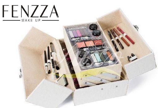 Maleta de Maquiagem Fenzza - MC 11012 foi elaborada especialmente para atender as necessidades de maquiadores profissionais e de amadores.