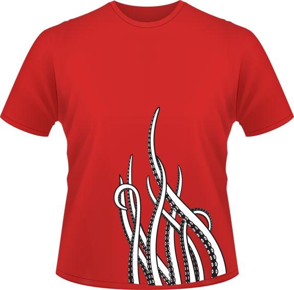 La tentacule - Don de Rouge, T-shirts pour la cause du 24h de Tremblant - 25$