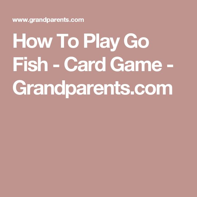 how to play go fish card game card. Black Bedroom Furniture Sets. Home Design Ideas