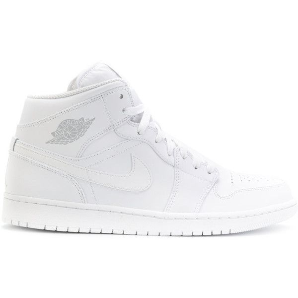 Nike Air Jordan sneakers ($115) ❤ liked on Polyvore featuring men's fashion, men's shoes, men's sneakers, white, mens slipon shoes, mens slip on sneakers, mens slip on shoes, mens white shoes and mens white sneakers