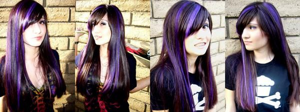 if i could have one thing for summer it would be PURPLE HIGHLIGHTS or a COOL NEW PHONE