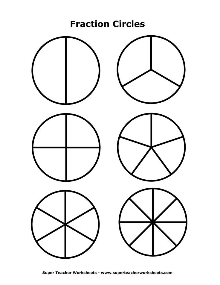 Gratifying image for printable fraction circles