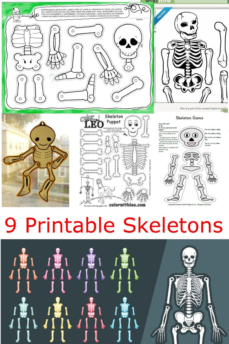 9 Printable Skeleton Crafts for Kids and Halloween!