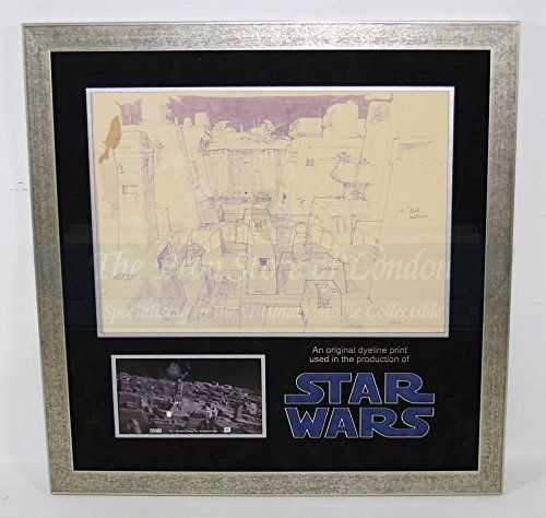 Original Movie Prop - Star Wars: Episode IV - A New Hope - Original Dyeline Print of Death Star Surf @ niftywarehouse.com #NiftyWarehouse #Geek #Products #StarWars #Movies #Film
