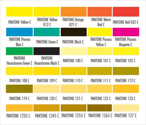 pantone color codes download