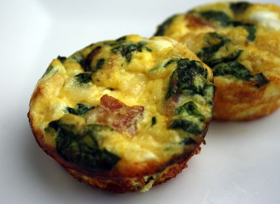 Mini Frittatas - omit cheese and omit milk or use coconut/almond milk