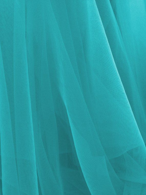 Tulle Illusion in Turquoise for Bridal Veils