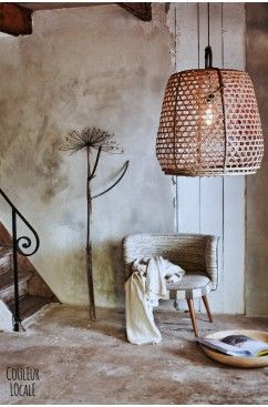 oversize lampshades in wicker, rattan, bamboo, boho, rustic, ethnic and cool