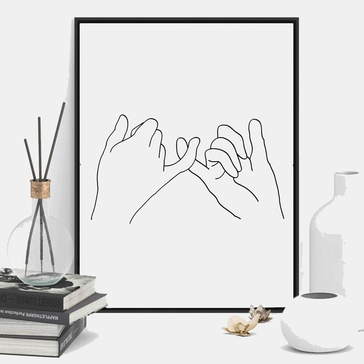 """""""Pinky Promise"""" wall art print. This print comes with 4 different sizes to download. 5x7 JPG, 8X10 JPG, 11X14 JPG, 16x20 JPG. THIS IS A DIGITAL DOWNLOAD FILE ONLY. Enter code """"25OFF"""" when you buy 2 or more prints to save 25% off your entire order!"""
