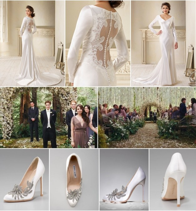 Bella Wedding Dress Alfred Angelo : Bella s bridal gown alfred angelo swan embellished pumps