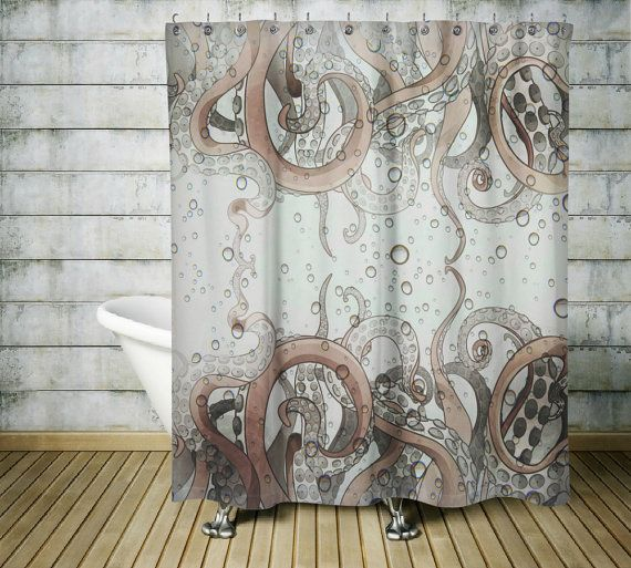 41 best skulls images on pinterest drawings tattoo for Tentacle shower curtain