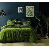 Found it at Temple & Webster - Mossy Road Cotton Velvet Double Bed Quilt Cover Set