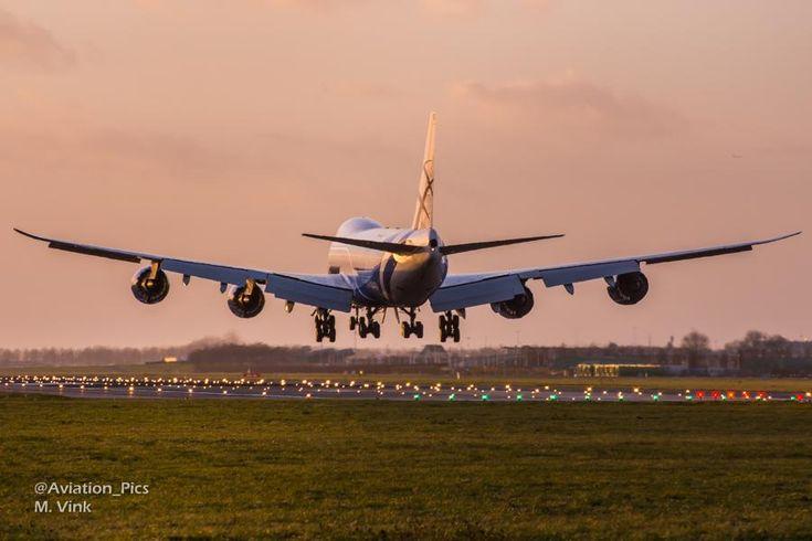 A shiny Air Bridge Cargo Boeing 747-800F freighter