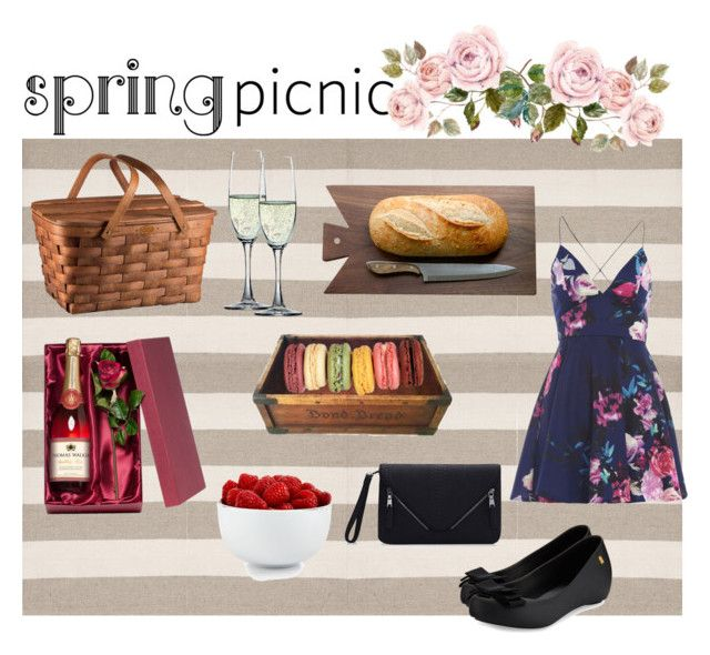 Spring Picnic by neeacamillaa on Polyvore featuring interior, interiors, interior design, home, home decor, interior decorating, Dash & Albert, Picnic Time, The Cellar and Spiegelau