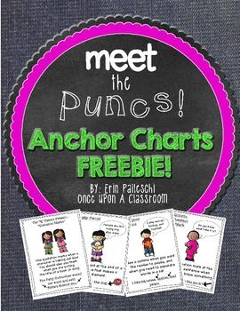 PUNCTUATION - MEET THE PUNCS! - ANCHOR CHARTS FREEBIE! - TeachersPayTeachers.com