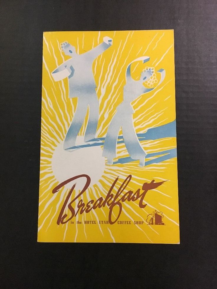 Vintage Hotel Utah Breakfast Menu - Salt Lake City, Utah  | eBay